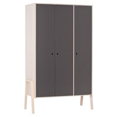 3-Door-Wardrobe-Acacia-Graphite-Closed.jpg ...  sc 1 st  Cuckooland & Spot 3 Door Wardrobe In Acacia - Fairy u0026 Ballerina Themed Kids Bedroom pezcame.com