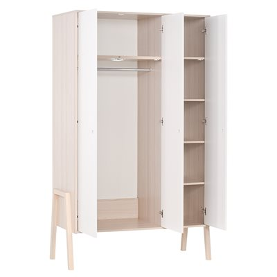 Vox Spot 3 Door Wardrobe in Acacia & White