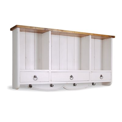 Image of 3 DRAWER WALL RACK in Antique White