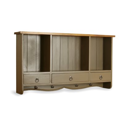 3 DRAWER WALL RACK in Beige