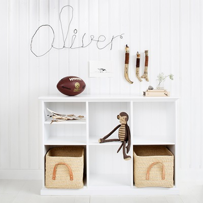 Oliver Furniture Seaside Horizontal Low Shelving Unit in White