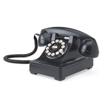 302 CORDED RETRO TELEPHONE in Black