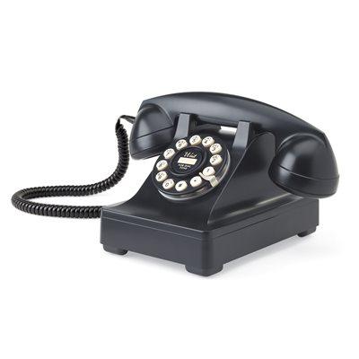 302 CORDED RETRO TELEPHONE in Black