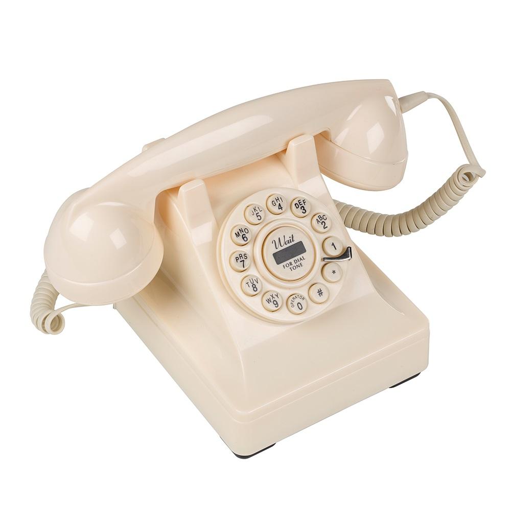 302 Retro Phone Cream Angleleft Jpg