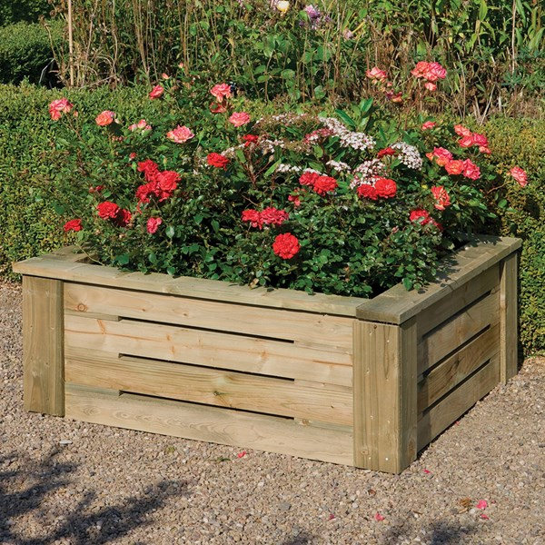 Rowlinson Raised Wooden Planter