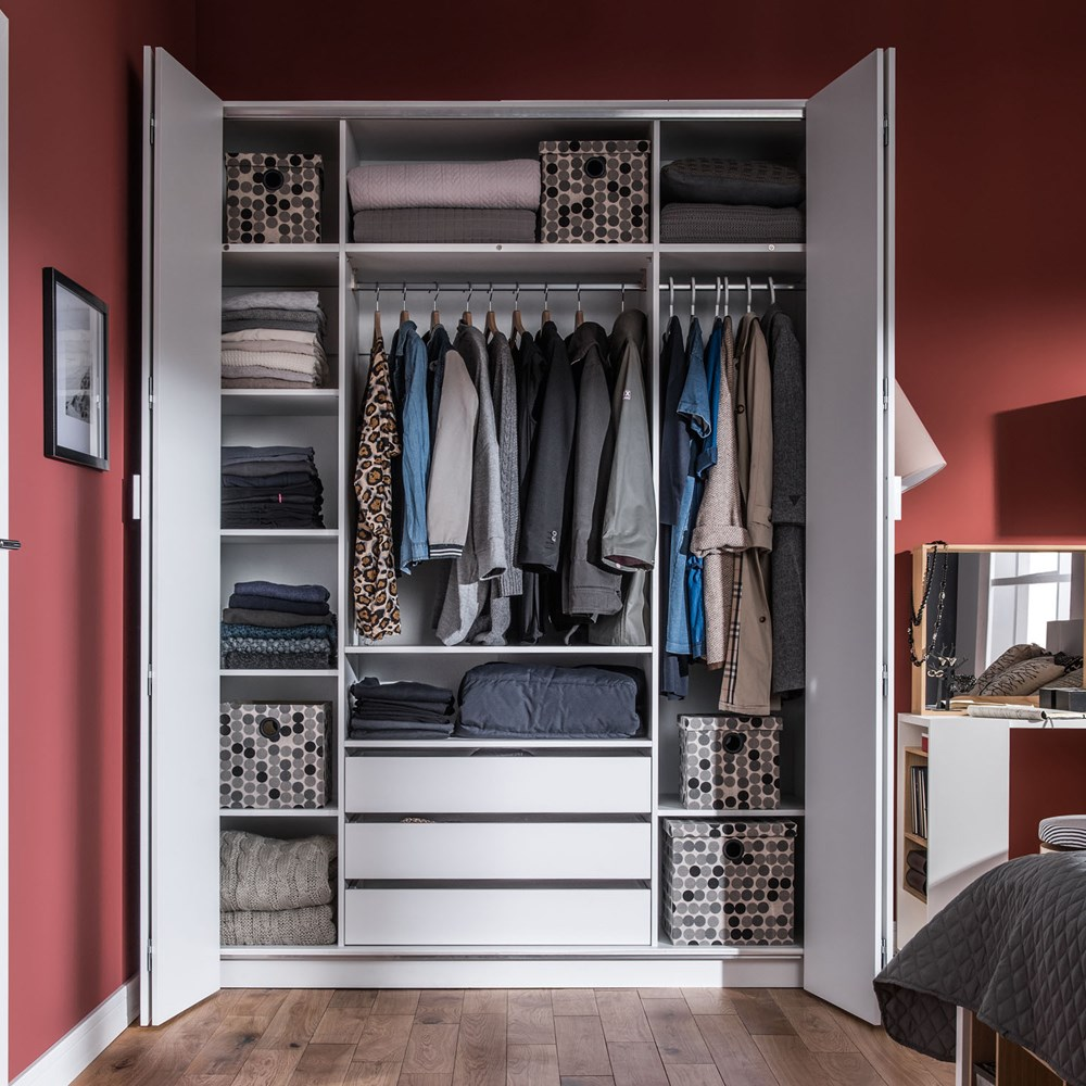 best service 2fea9 a69ba Vox 4 You Bi Fold 4 Door Wardrobe with Built in Drawers in White