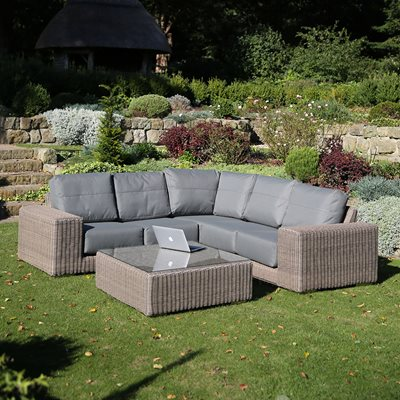 KINGSTON MODULAR RATTAN CORNER SOFA by 4 Seasons Outdoor