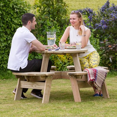 Zest 4 Leisure Wooden Katie Round Garden Picnic Table