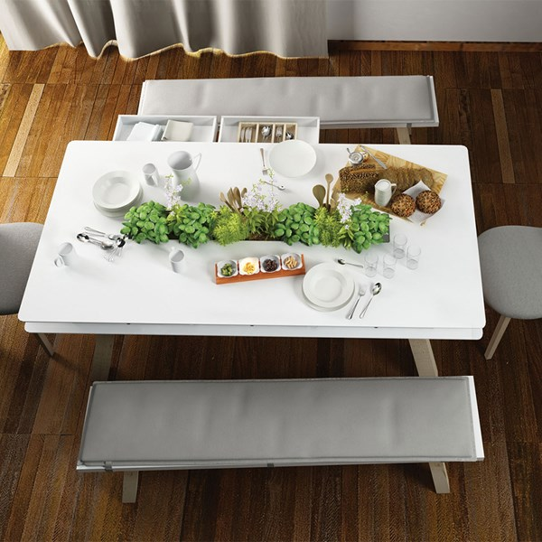 Vox 4 You Dining Table with Hidden Container in White