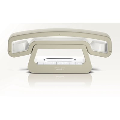 SWISS VOICE ePure Dect TAM Cordless Phone Handset in Beige and White