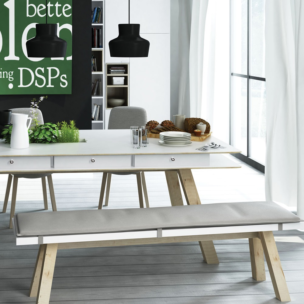 you dining bench in white  dining chairs  cuckooland - youdiningbenchwhite