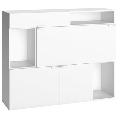 4YOU STORAGE CABINET WITH 2 CUPBOARDS & DRAWER in White