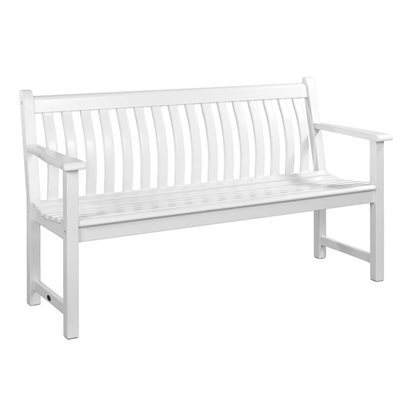 NEW ENGLAND BROADFIELD 5FT GARDEN BENCH in White by Alexander Rose
