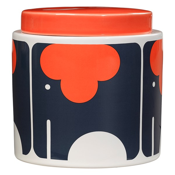 Orla Kiely Ceramic 1L Storage Jar in Elephant Print