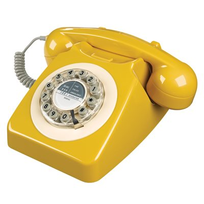 RETRO TELEPHONE 746 in English Mustard