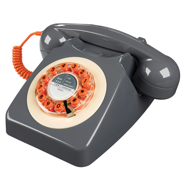 Retro Telephone in Grey