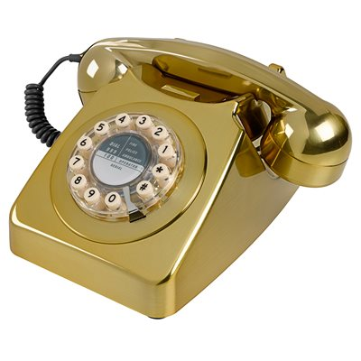 RETRO TELEPHONE 746 in Brushed Brass