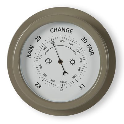 "8"" ROUND WALL-MOUNTED GARDEN BAROMETER In Gooseberry by Garden Trading"