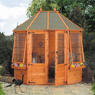 OCTAGONAL WOODEN SUMMER HOUSE by Mercia