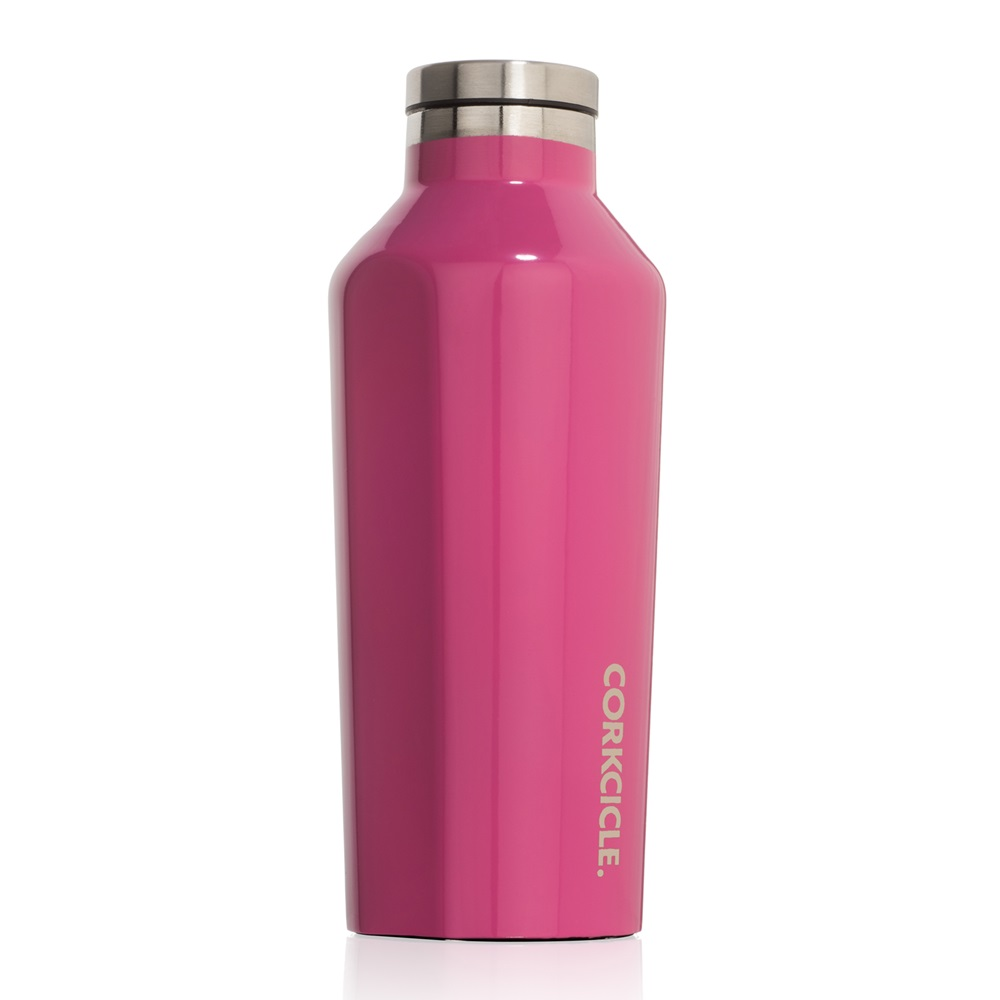 9oz Canteen Flask Pink