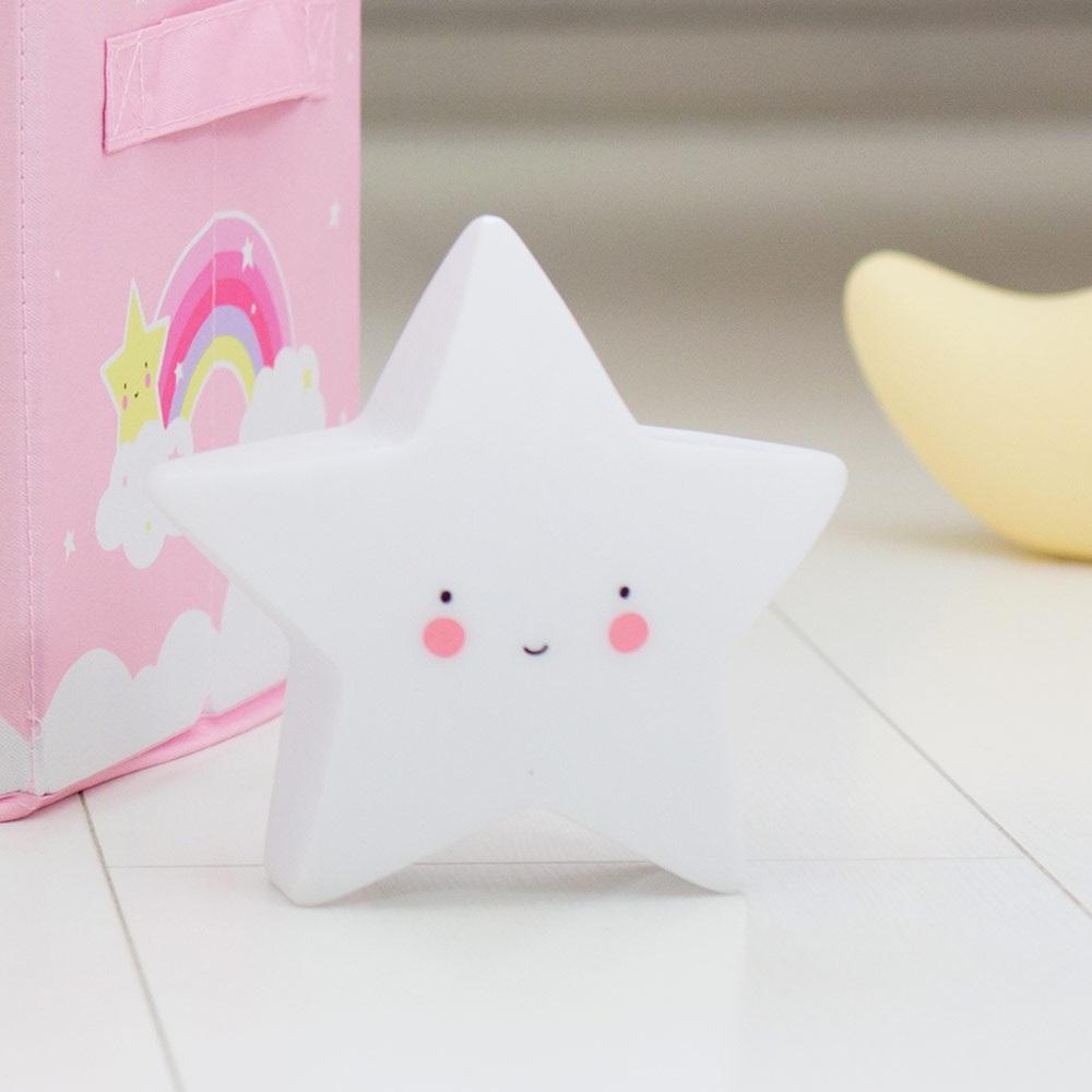 Mini White Star Night Light