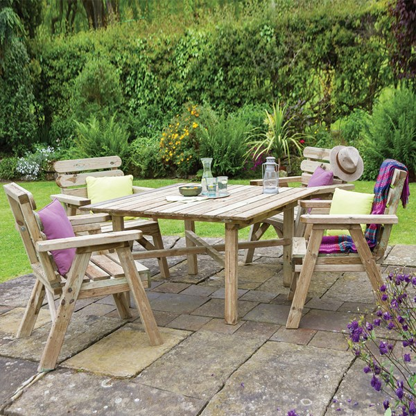 Zest 4 Leisure Wooden Abbey Square Table and Chairs Set