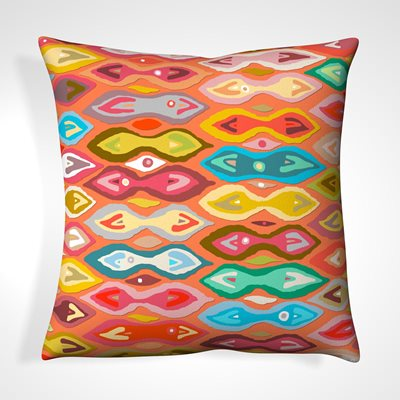 CUSHION in Abstract Coral Design