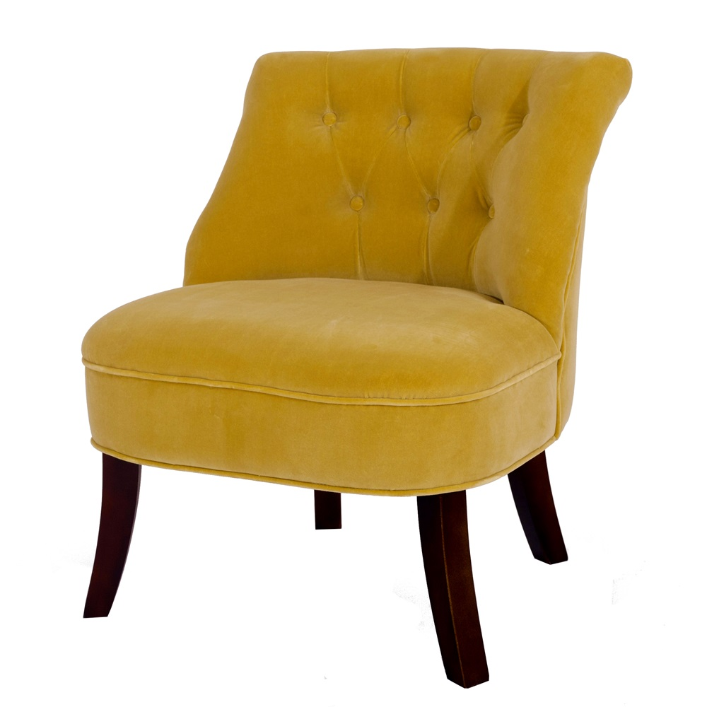 Velvet Occasional Tub Chair In Acacia - Chairs & Sofas   Cuckooland
