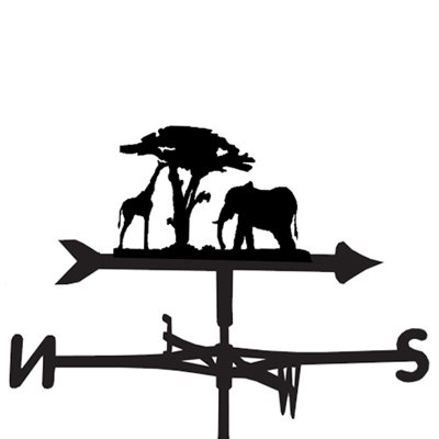 Weathervane in Giraffe & Elephant Design