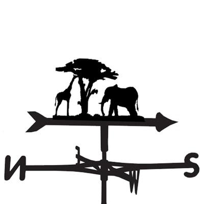 WEATHERVANE in Giraffe & Elephant Design