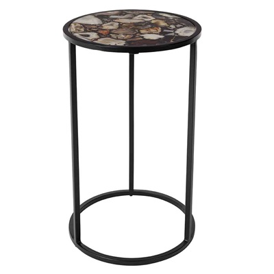 DUTCHBONE AGATE TALL ROUND SIDE TABLE