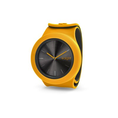 AIGHT DESIGNER SNAP ON WATCH in Yellow