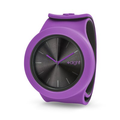 AIGHT 1AM DESIGNER SLAP WATCH in Purple Orchid