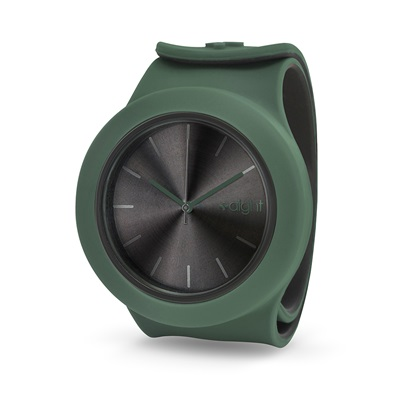 AIGHT 1AM DESIGNER SLAP WATCH in Khaki Green