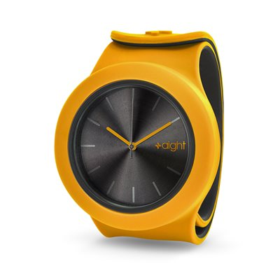 AIGHT 1AM DESIGNER SLAP WATCH in Mustard Yellow