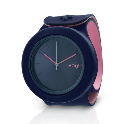 AIGHT DESIGNER SLAP ON WATCH in Navy and Pink