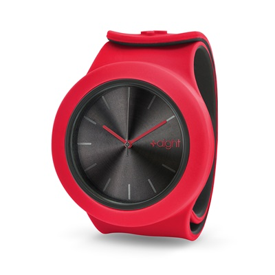 AIGHT 1AM DESIGNER SLAP WATCH in Red