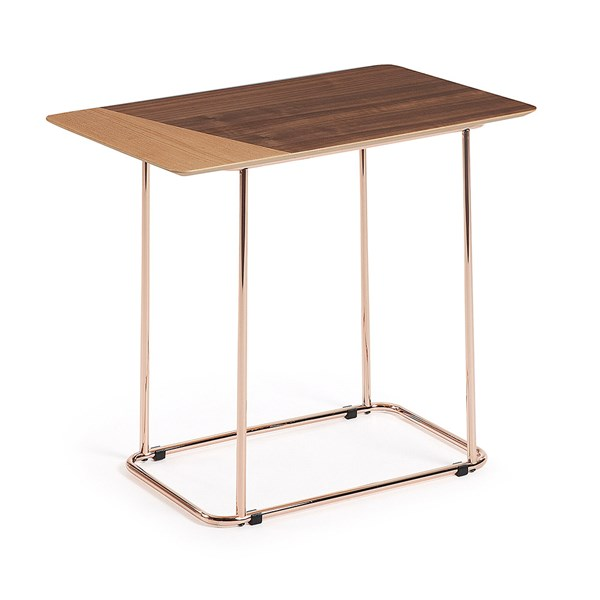 Aitana Retro Side Table with Copper Legsby La Forma