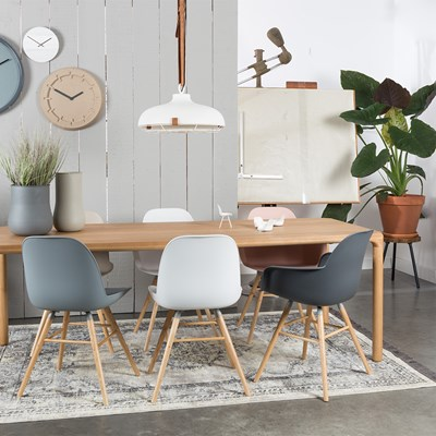 Beautiful Albert Kuip Retro Dining Chairs In Dark Grey Cuckooland