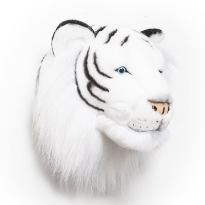 KIDS WHITE TIGER PLUSH ANIMAL HEAD WALL DECOR