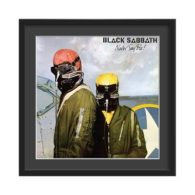 BLACK SABBATH FRAMED ALBUM WALL ART in Never Say Die Print