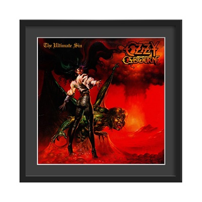 OZZY OSBOURNE FRAMED ALBUM WALL ART in Ultimate Sin Print