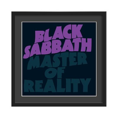 BLACK SABBATH FRAMED ALBUM WALL ART in Master of Reality Print