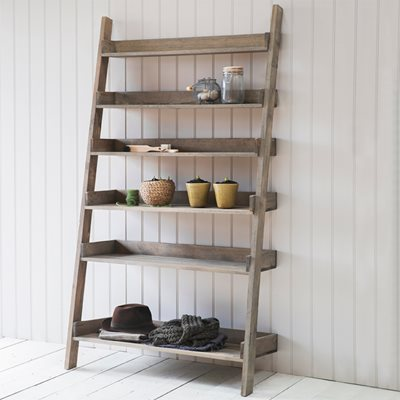 GARDEN TRADING ALDSWORTH WIDE WOODEN LADDER SHELF