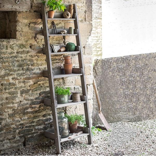 Garden Trading Aldsworth Narrow Wooden Ladder Shelf