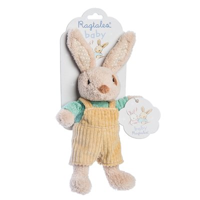 ALFIE RABBIT BABY RATTLE SOFT TOY