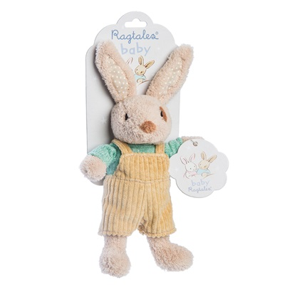 RAGTALES ALFIE RABBIT BABY RATTLE SOFT TOY