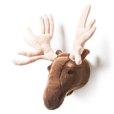 KIDS MOOSE PLUSH ANIMAL HEAD WALL DECOR