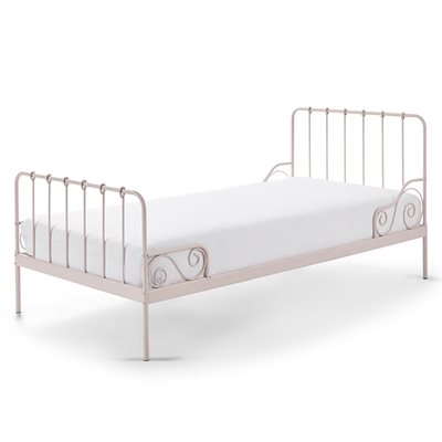 ALICE METAL SINGLE KIDS BED in Pink