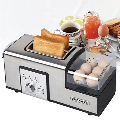 Smart Breakfast Master Toaster in Silver